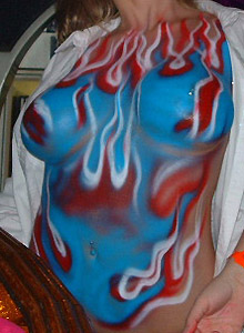 Drunk Girls Getting Body Painted - Picture 4